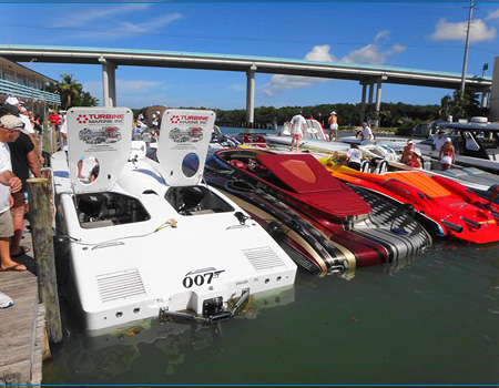 Speedboats at Gilbert's Resort, Key Largo