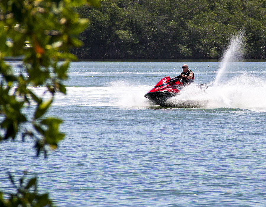 Jet Skiing, one of the many activities at Gilbert's Resort, Key Largo