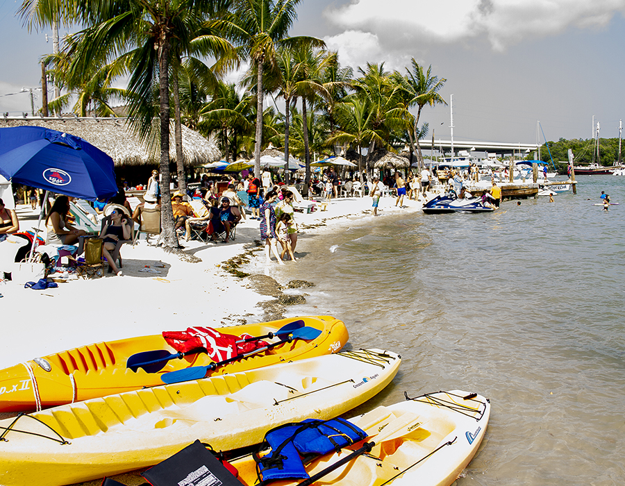 Beach fun at Gilbert's Resort, Key Largo