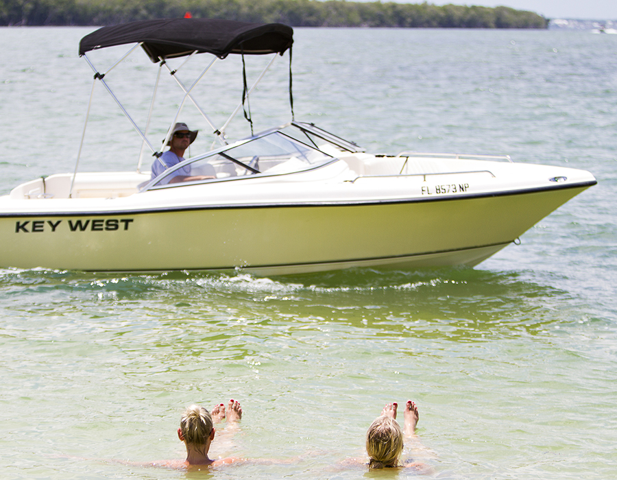 Boating at Gilbert's Resort, Key Largo