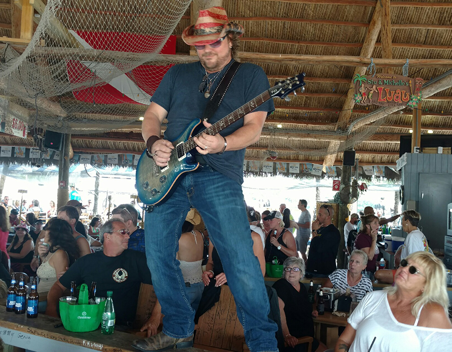 Mr. Nice Guy performing at Gilbert's Resort